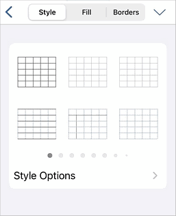 Style Options