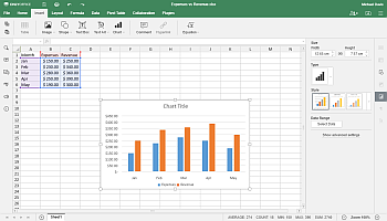 how to make a chart in excel Step 1